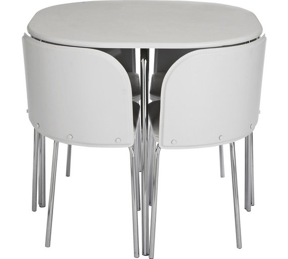 Argos Dining Table And Chairs White: Buy Hygena Amparo Dining Table & 4 Chairs