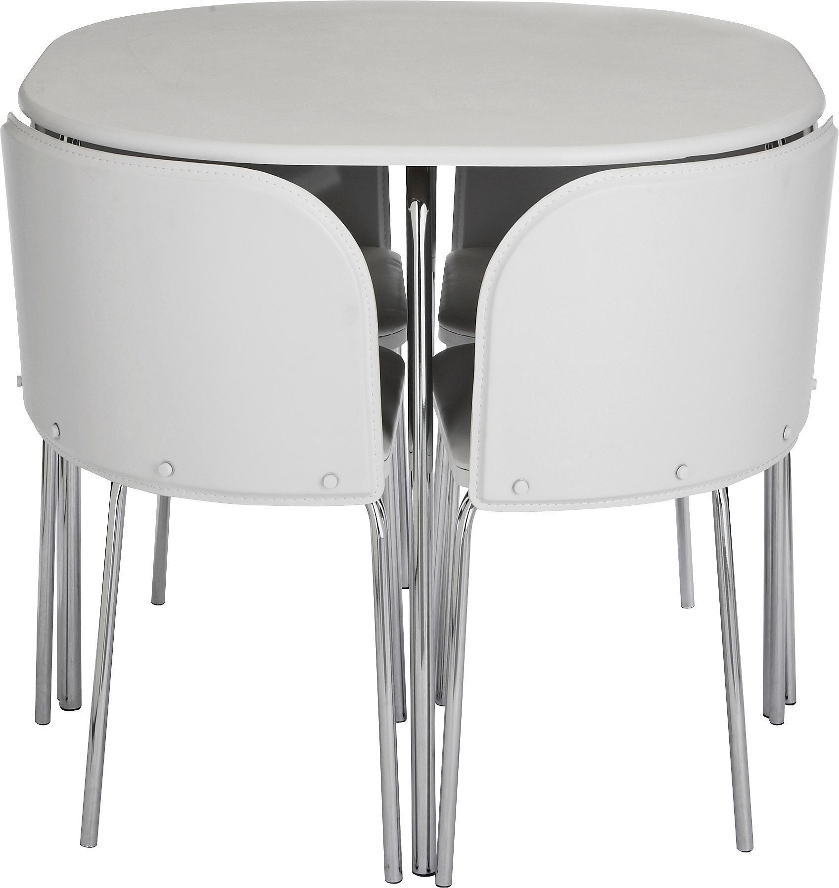 Buy Hygena Amparo Dining Table   Chairs - White at Argos.uk