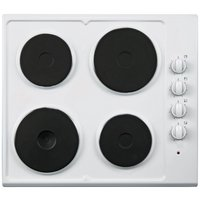 Cookworks AE60W Solid Plate Electric Hob - White