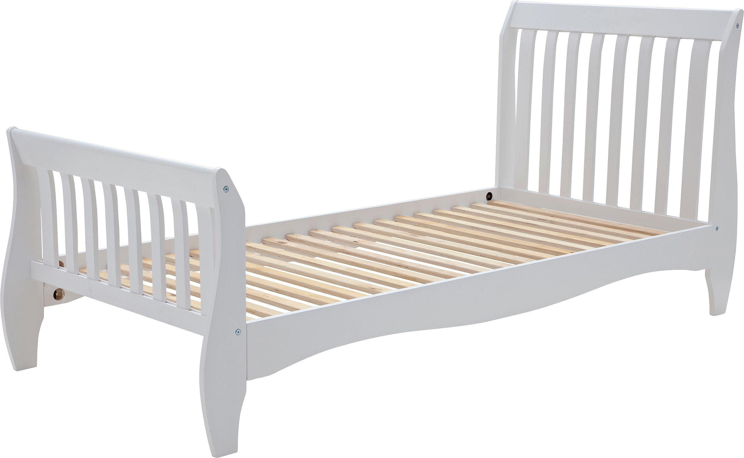Buy Collection Daisy Sleigh Single Bed Frame White at Argosco