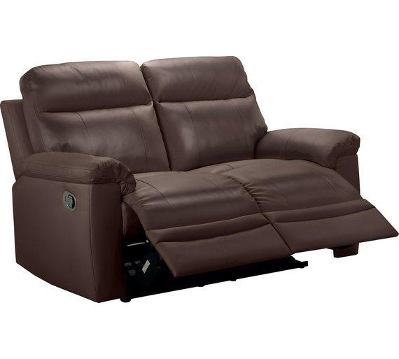 argos brown leather recliner sofa. Black Bedroom Furniture Sets. Home Design Ideas