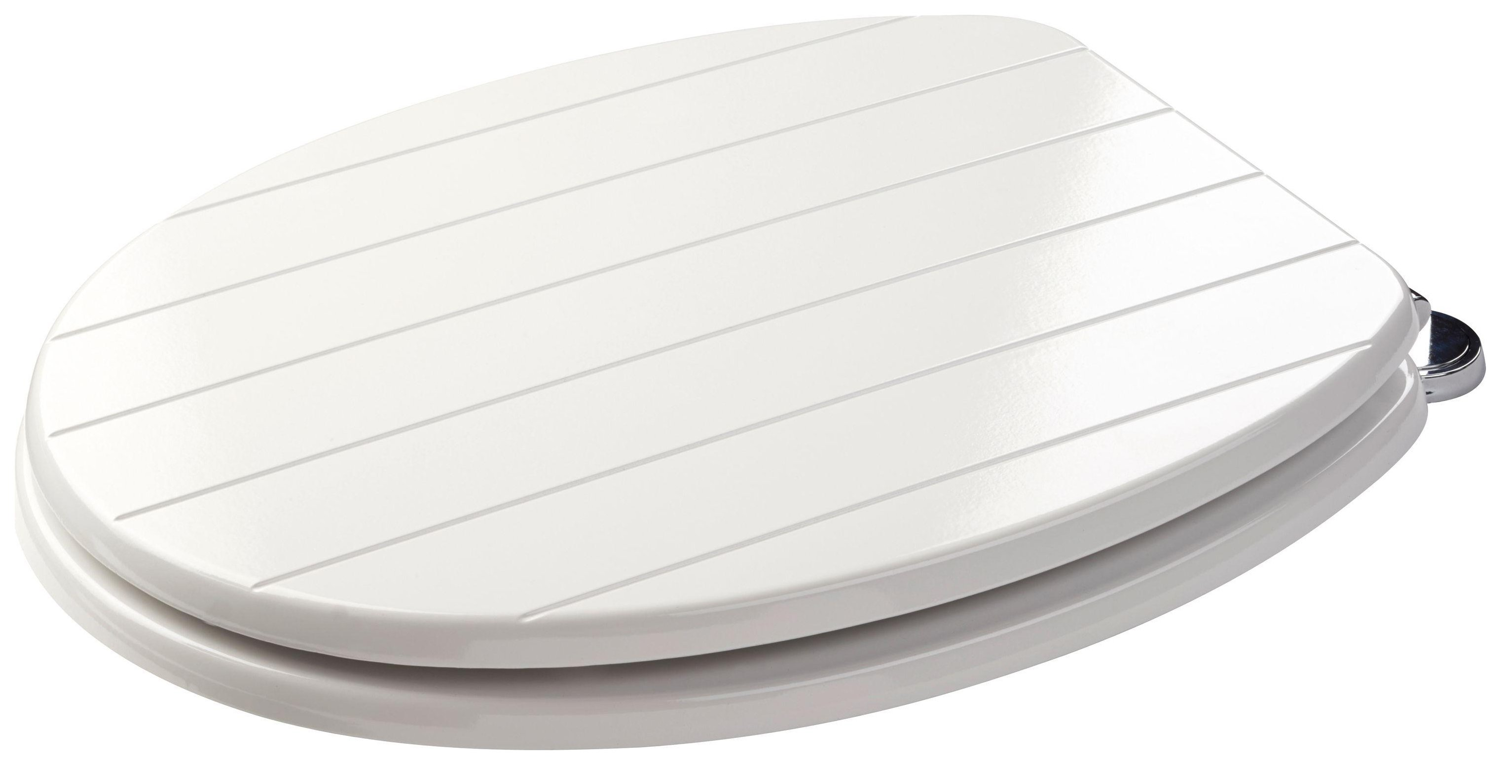 Image of Croydex - Sit Tight New England - Toilet Seat - White
