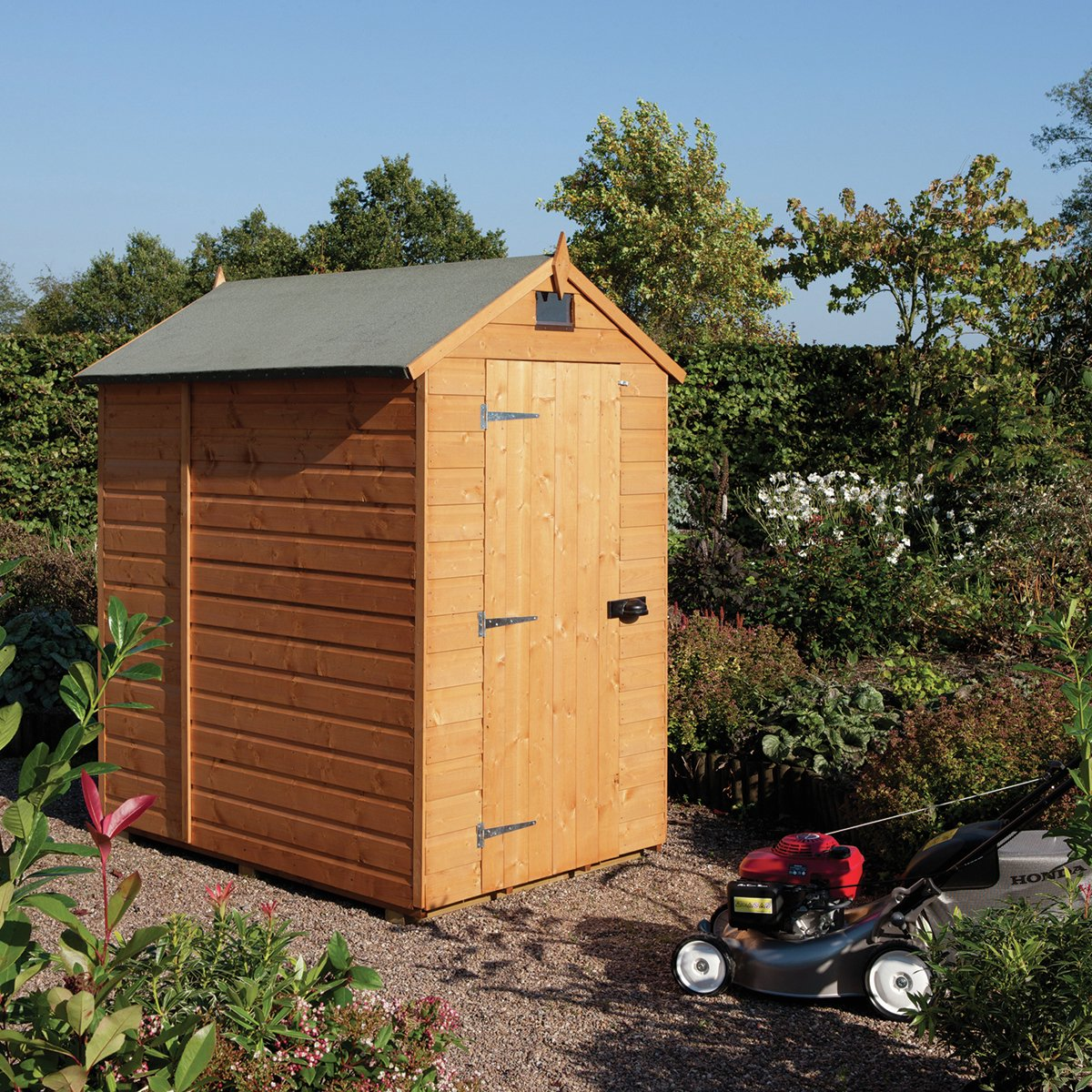 Image of Rowlinson Wooden Security Shed - 7 x 5ft