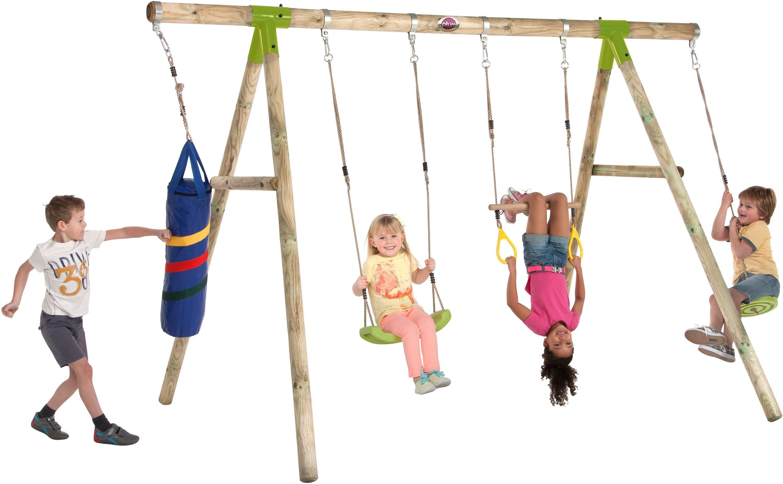 Plum Capuchin Wooden Pole Swing Set.