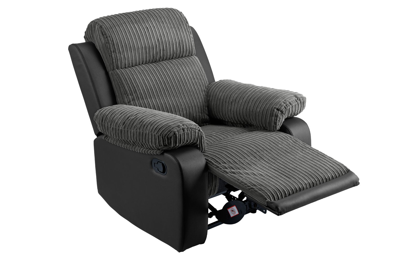 Argos Home Bradley Fabric Manual Recliner Chair - Charcoal