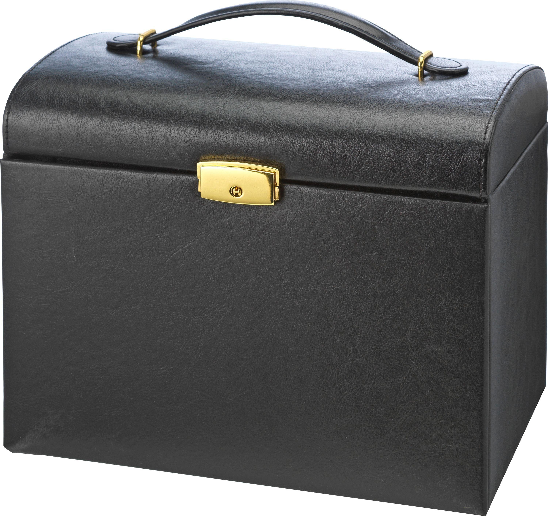 Buy Large Three Drawer Black Jewellery Box at Argoscouk Your