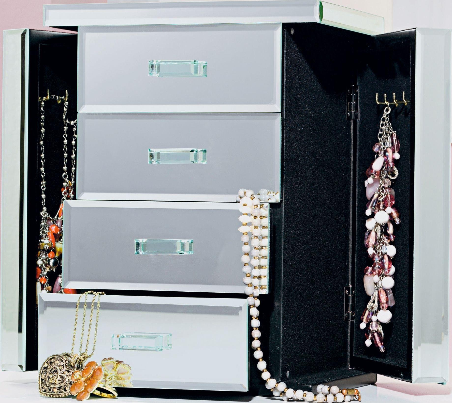 Image of Mirrored - Jewellery Box with Two Compartments