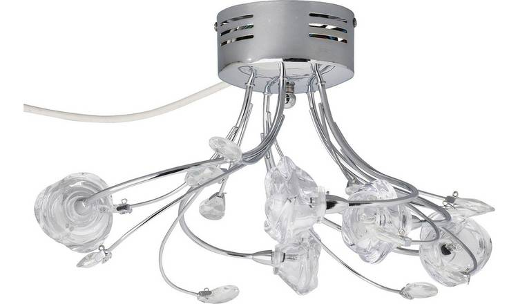 Buy Argos Home Rosa Flower 5 Light Flush Ceiling Fitting | Ceiling lights |  Argos