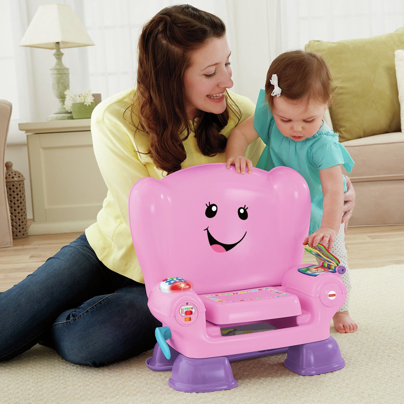 buy fisher-price laugh & learn smart stages chair - pink at argos