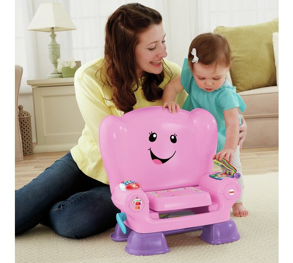 Buy fisher price laugh learn smart stages chair pink for Chaise musicale