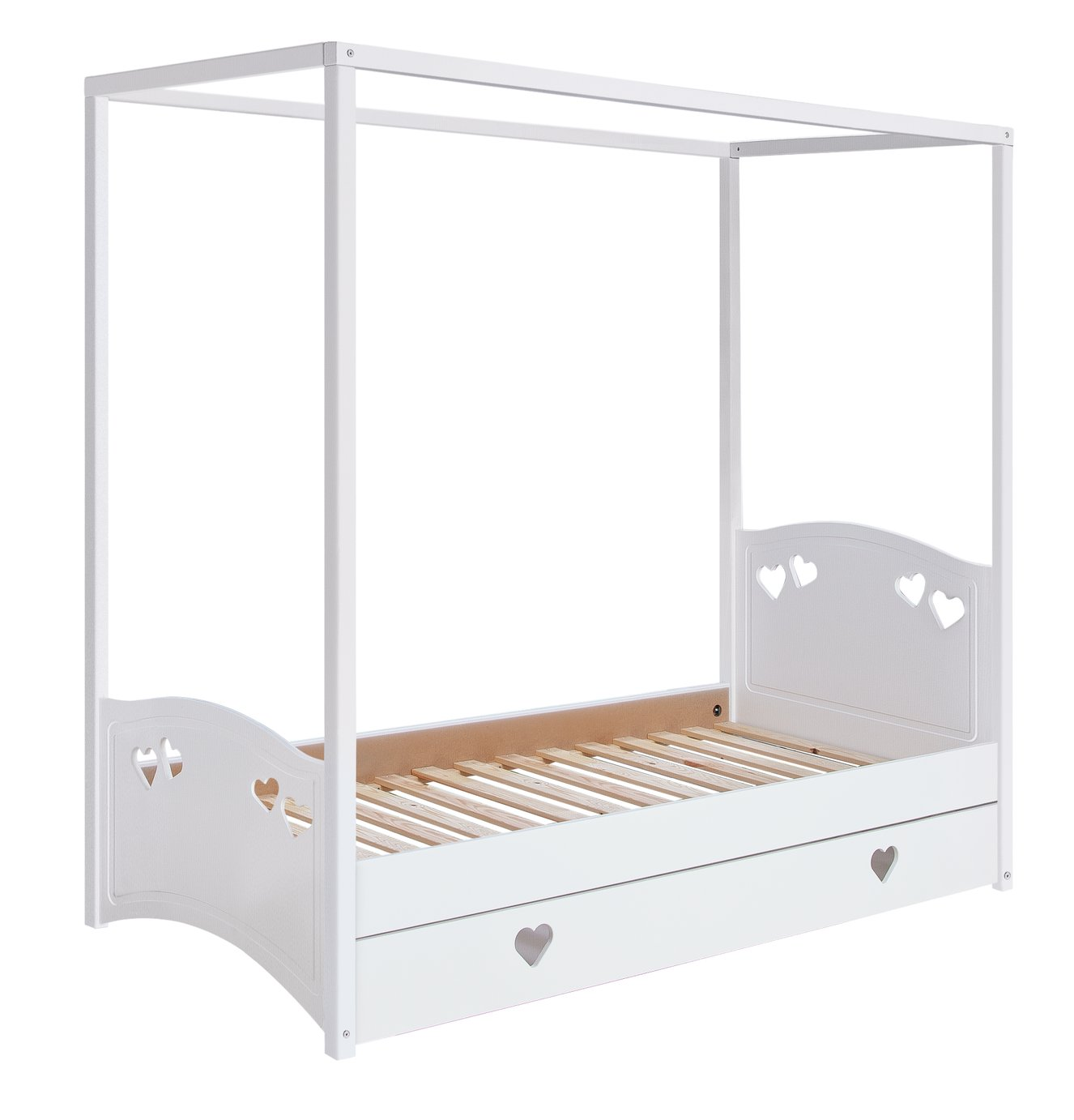 Buy Collection Mia Single 4 Poster Bed Frame White Kids beds Argos