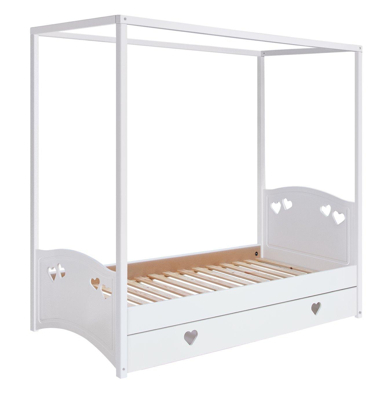 Buy Collection Mia Single 4 Poster Bed Frame White at Argosco