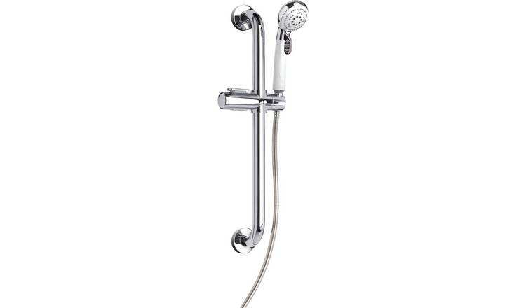 Croydex Assistive 3 Function Shower Kit - White and Chrome