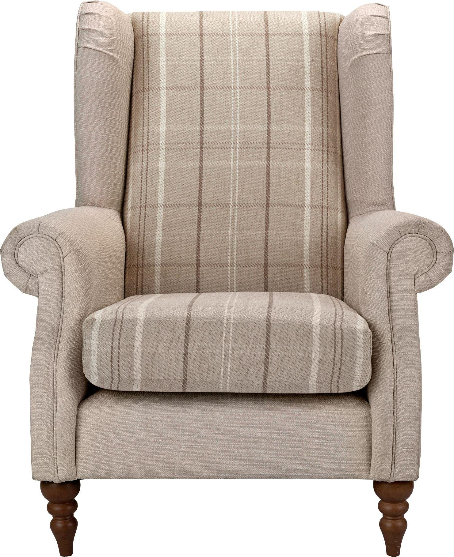 sale on argos home argyll fabric high back chair beige. Black Bedroom Furniture Sets. Home Design Ideas