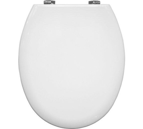 Buy Bemis Manhattan Moulded Wood Statite Toilet Seat White At - Bemis white toilet seat