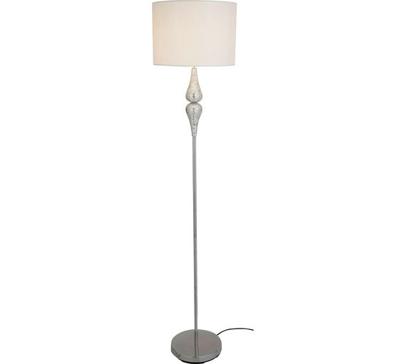 Buy Heart of House Eloise Crackle Floor Lamp - Silver | Floor lamps ...