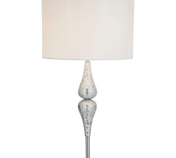 Buy argos home eloise crackle floor lamp silver floor lamps argos click to zoom mozeypictures Images
