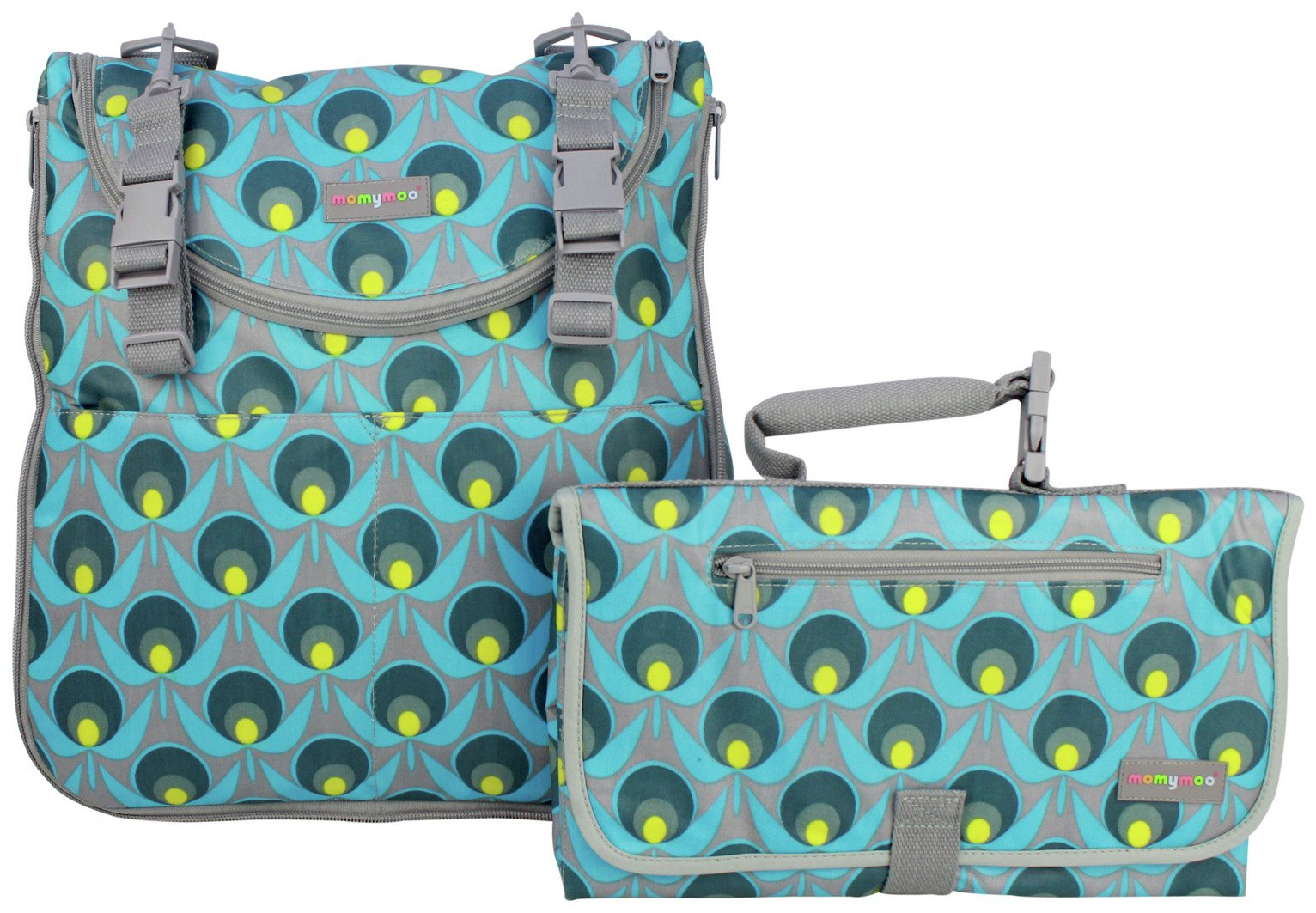Momymoo Maia Geo Daisy Changing Bag with Free Changing Mat