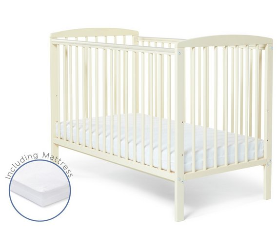 buy starlight cot and mattress cream at. Black Bedroom Furniture Sets. Home Design Ideas