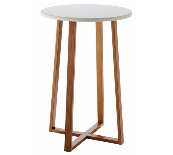 Buy habitat drew tall side table bamboo at for Tall side tables living room