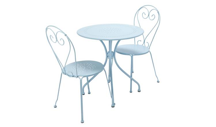 Argos Home Jasmine 2 Seater Bistro Set - Light Blue