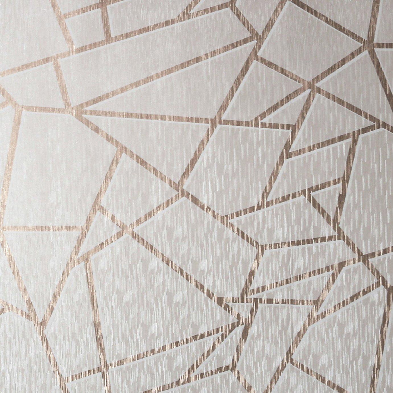 Sublime Theia Geometric Blush Wallpaper