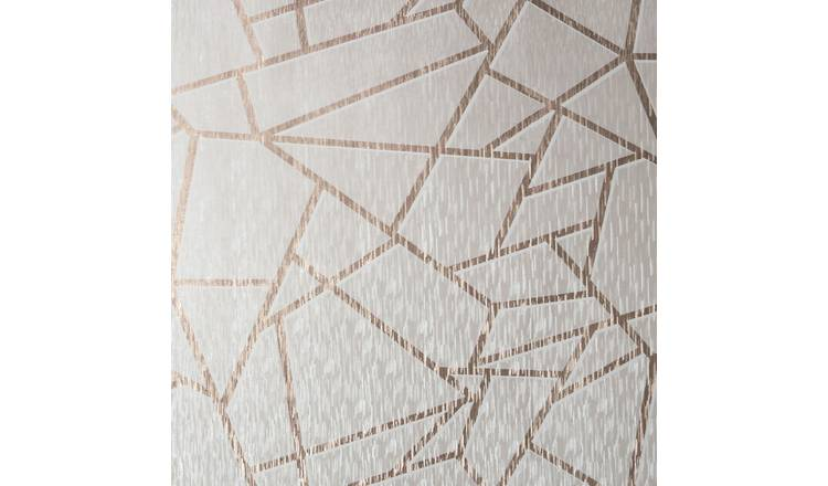 Sublime Theia Geometric Blush Wallpaper