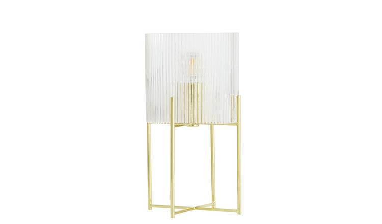 Argos Home Wilderness Glass and Metal Table Lamp
