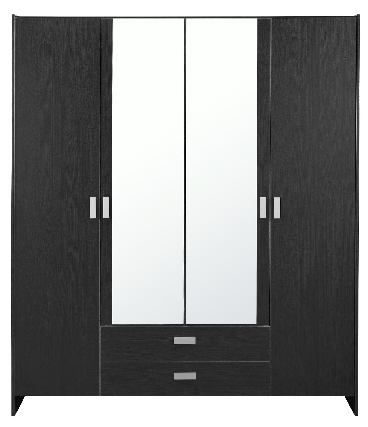 HOME Capella 4 Dr 2 Drw Mirrored Wardrobe