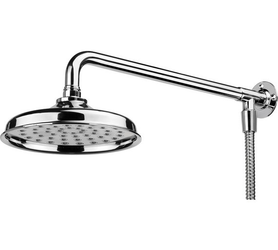 Buy Croydex Traditional S/Steel Shower Head, Arm and Hose Set at ...