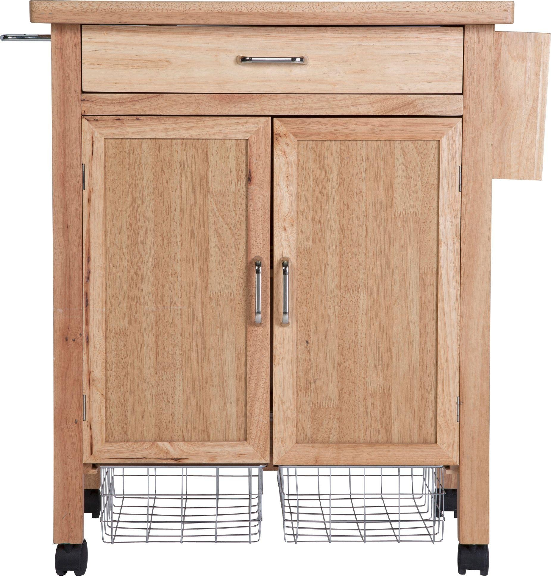 Heart of House Tollerton Wooden Kitchen Trolley.