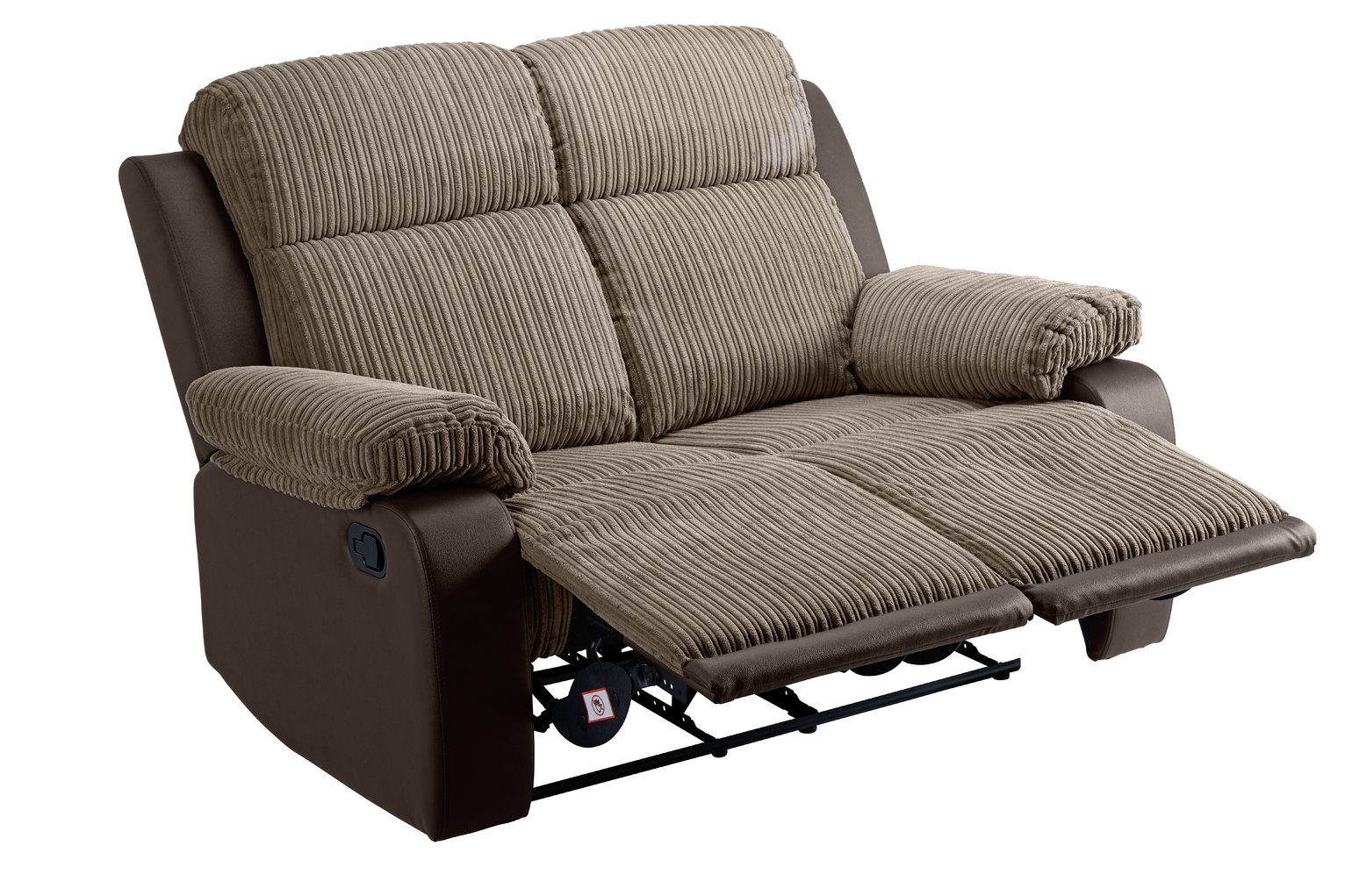 Argos Home Bradley 2 Seater Fabric Recliner Sofa - Natural