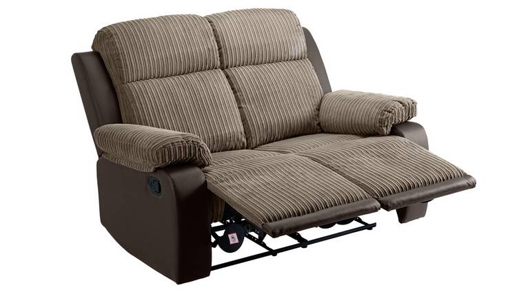 Argos Home Bradley 2 Seater Fabric Recliner Sofa - Natural