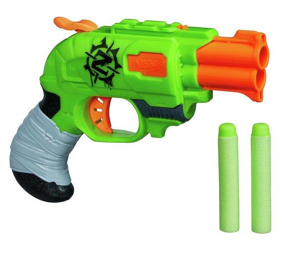 buy nerf zombie strike doublestrike blaster nerf blasters argos