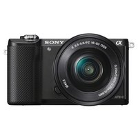 Sony - A5000 20MP - Compact System Camera with 16-50mm Lens