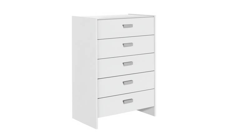 Argos Home Capella 5 Drawer Chest of Drawers - White