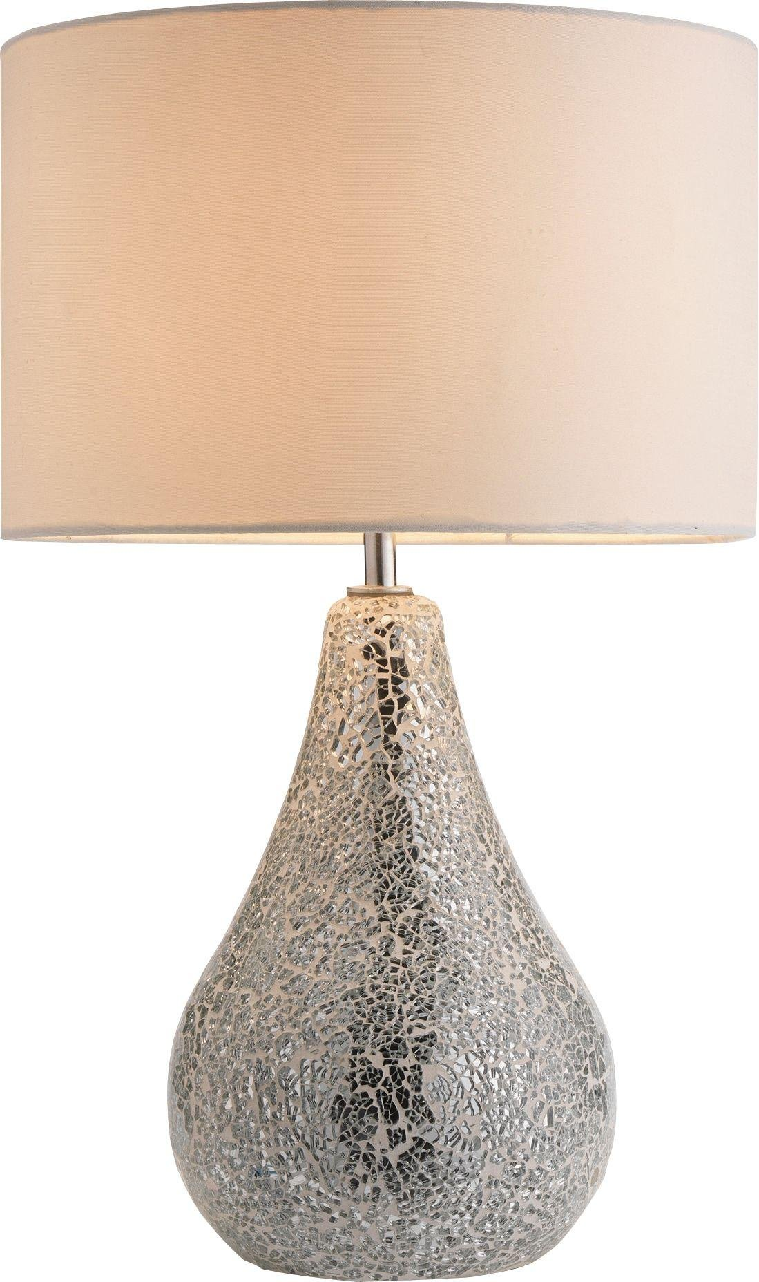 Heart of House - Eloise Crackle Finish - Table Lamp - Silver