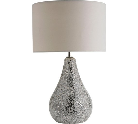 Buy heart of house eloise crackle finish table lamp silver table click to zoom aloadofball Image collections