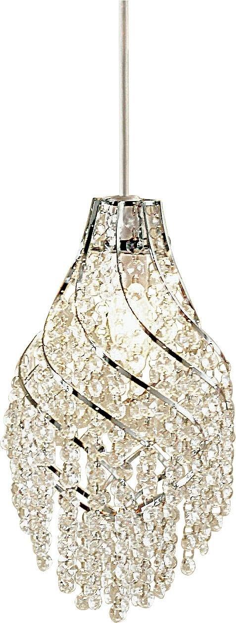 Heart of House - Evette Glass Beads & Chrome Pendant