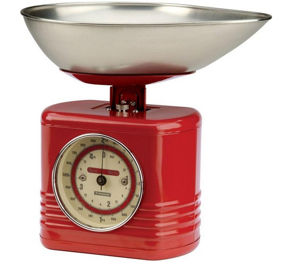 typhoon vintage kitchen scales red at your online shop