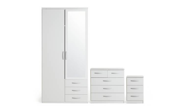 Argos Home Hallingford 3 Piece 2 Door Wardrobe Set - White
