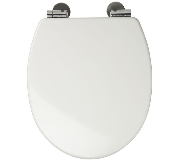 Buy Croydex Sit Tight Dawson Moulded Wood Toilet Seat White At - Black wooden toilet seat