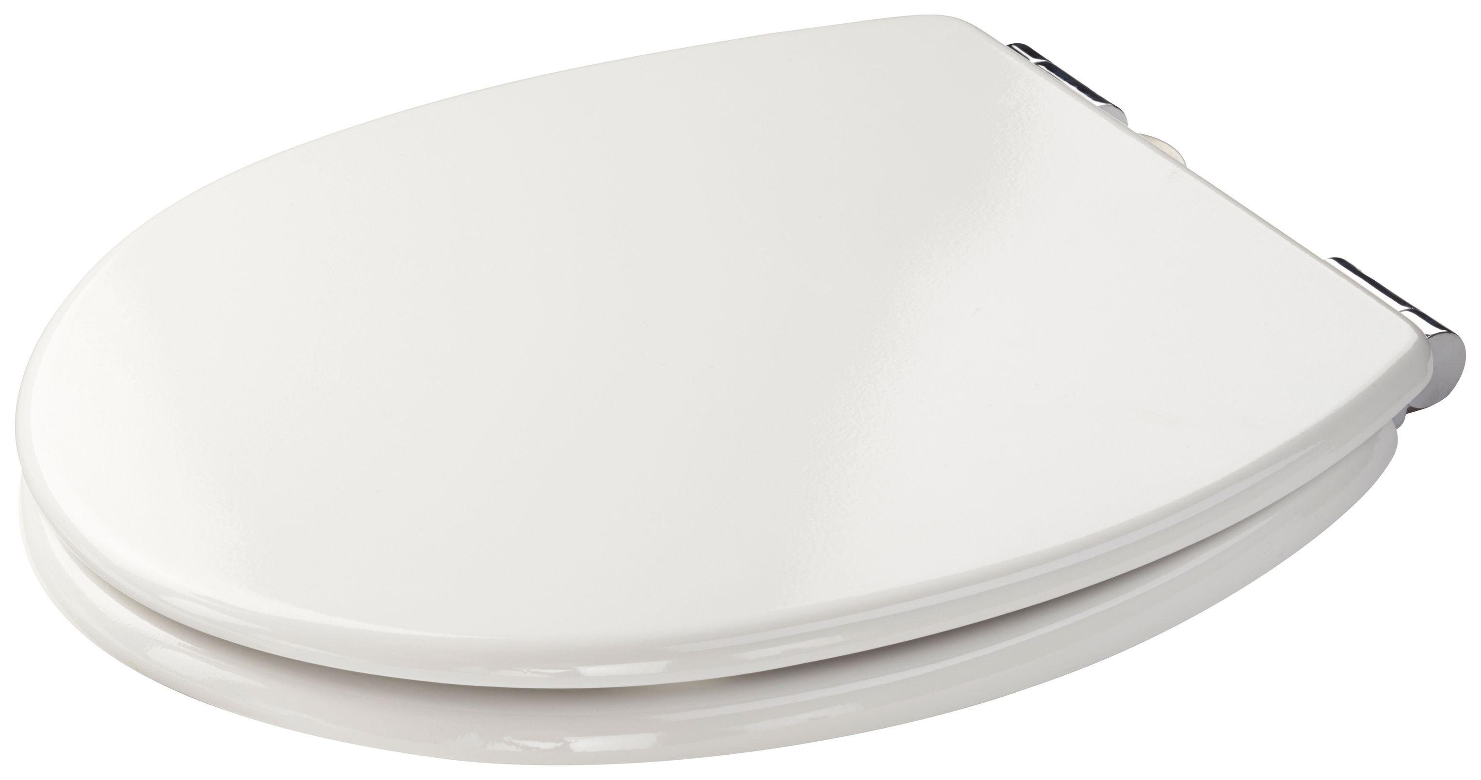 Buy Croydex Sit Tight Dawson Moulded Wood Toilet Seat White at