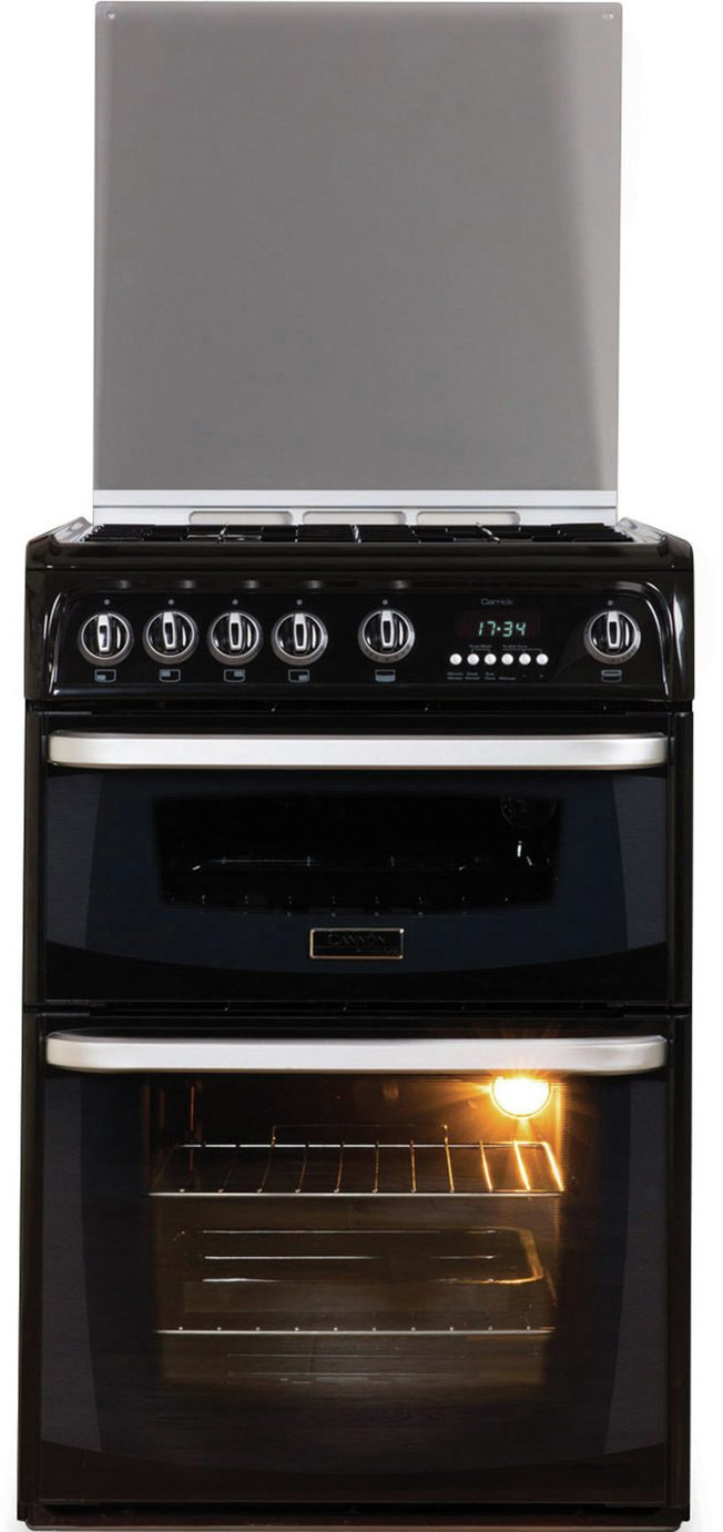 Hotpoint Cannon CH60GCIK 60cm Double Oven Gas Cooker - Black