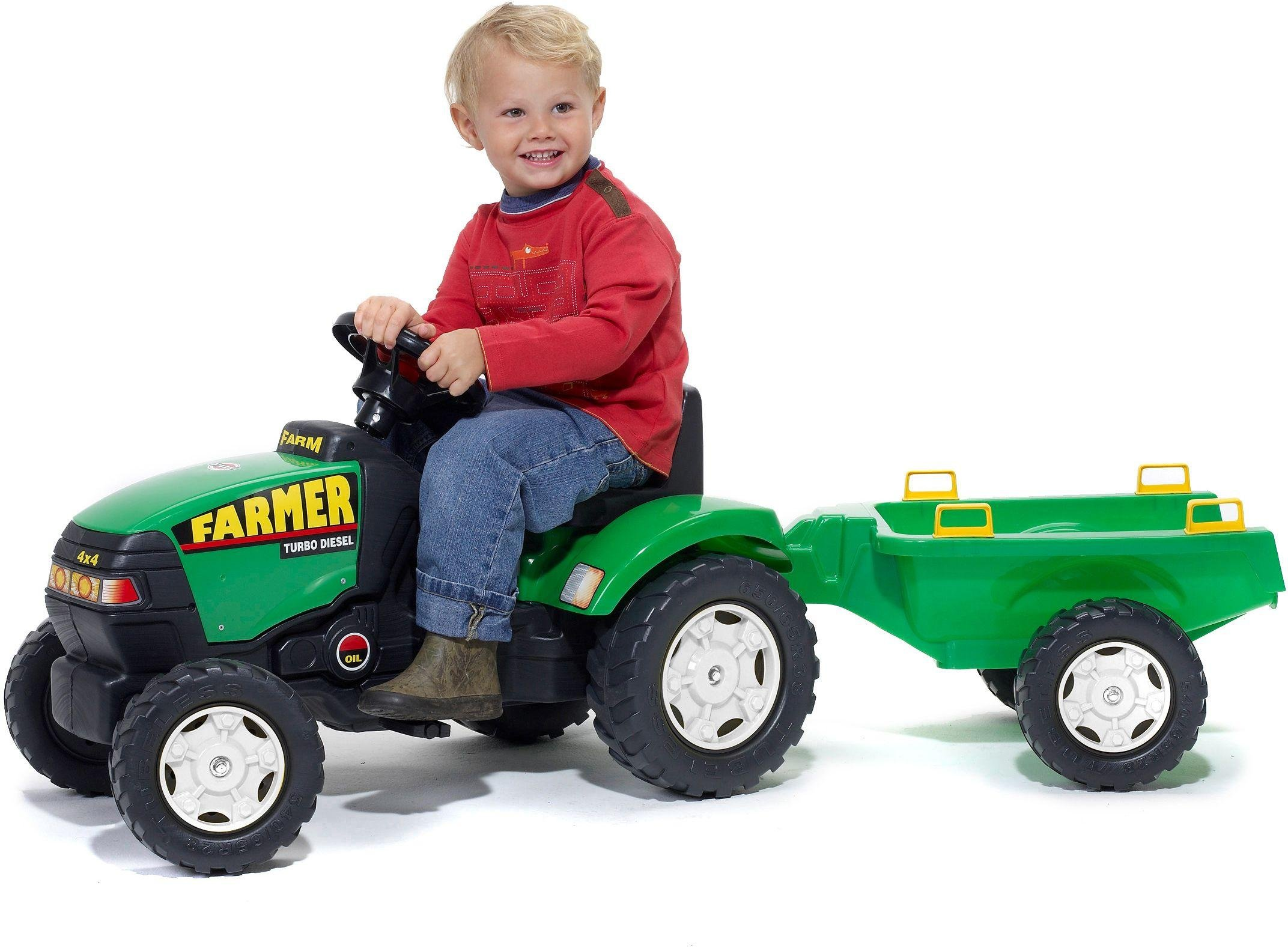 Image of Farmer Tractor and Trailer