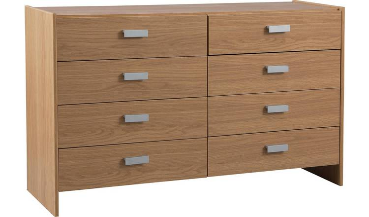 Argos Home Capella 4 + 4 Drawer Chest - Oak Effect