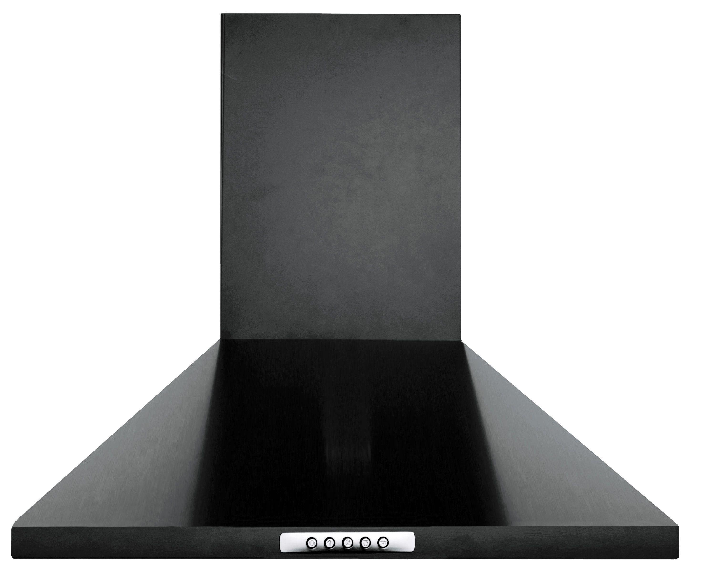 60cm Chimney Cooker Hood - Black