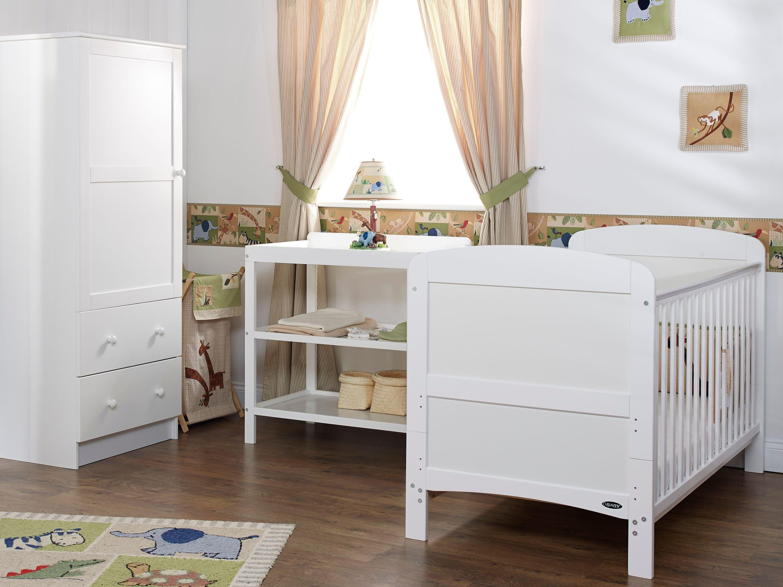 obaby grace 3 piece nursery furniture set  white.