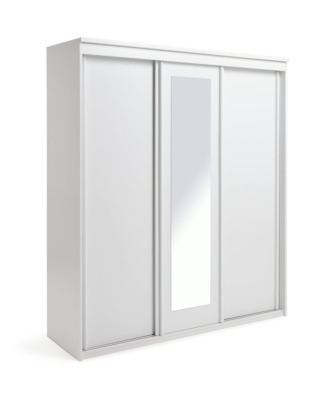Collection Hallingford 3 Door Sliding Wardrobe - White