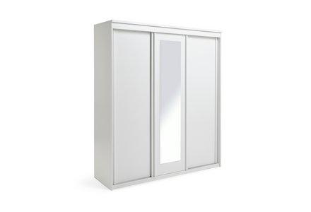 Collection New Hallingford 3 Door Sliding Wardrobe - White.